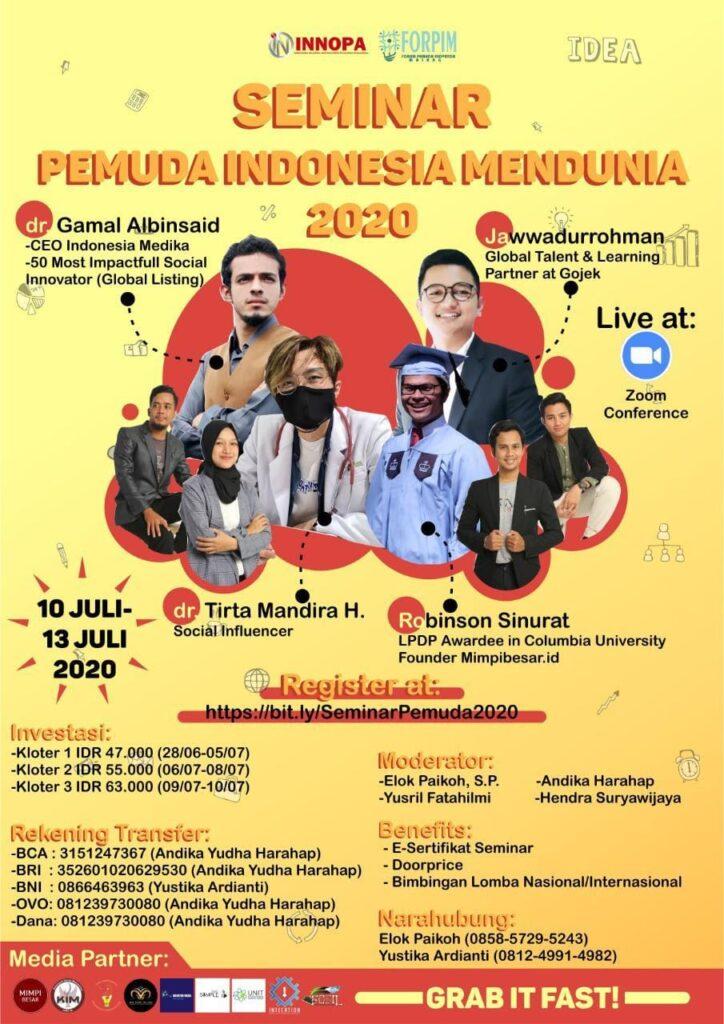 Event WEBNAR – Pemuda Indonesia Mendunia